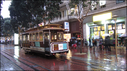 photo du tramway à San Francisco